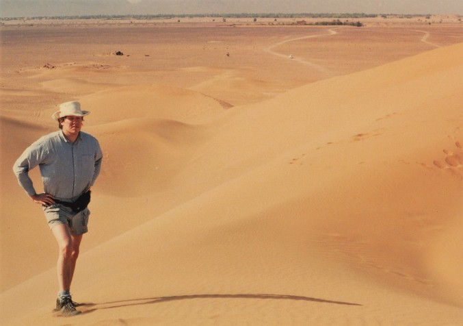 Author Gregory W Beaubien in Moroccan Sahara 1993