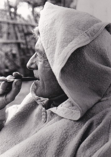 Paul Bowles in Tangier, Morocco, photo courtesy of Black Sparrow Press