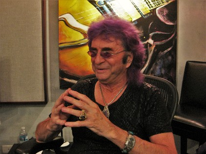 Jim Peterik in his recording studio