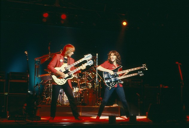 Rush performs live 1981. Photo by James Borneman